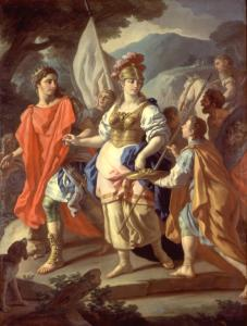 'Agreement between Camilla and Turnus' by Francesco de Mura (1765)
