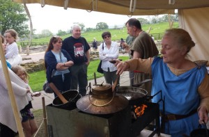 Wroxeter Cookery Workshop. Photo by English Heritage.
