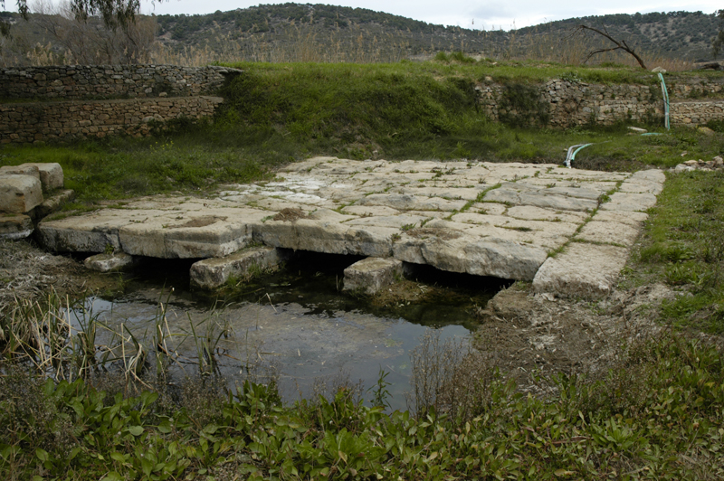 This image shows the supports for the bridge well. It would not impede the flow of the river while remaining quite sturdy.